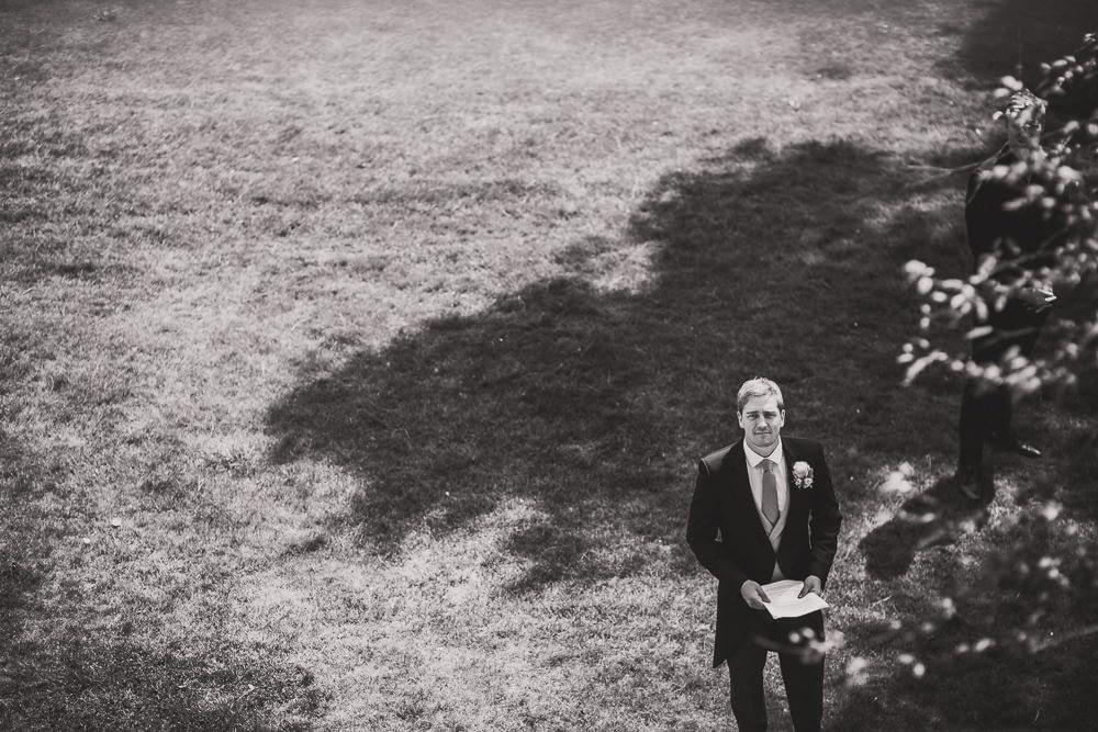 groom looking up