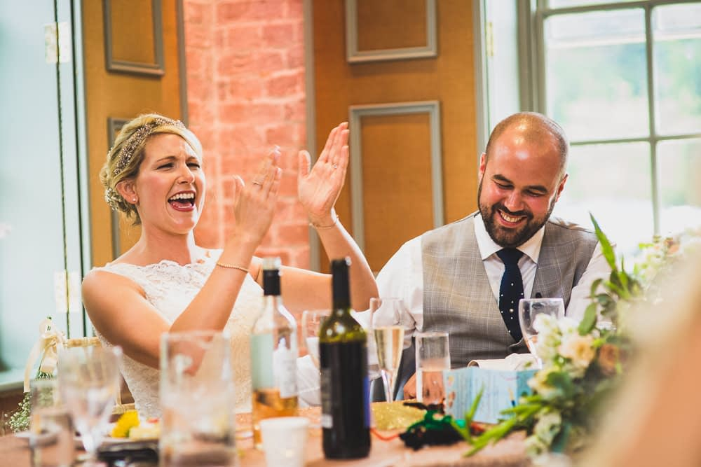 bride clapping