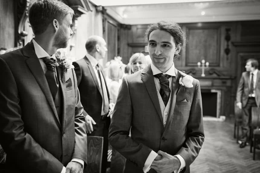 groom at front of ceremony