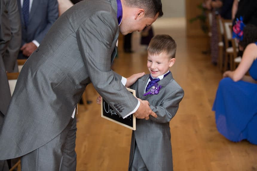 groom and page boy