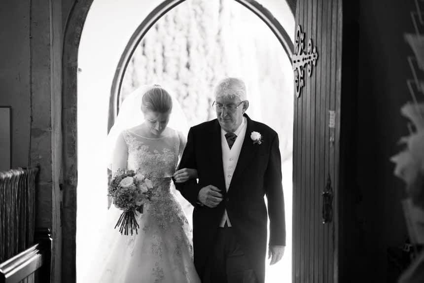 bride with father entering church