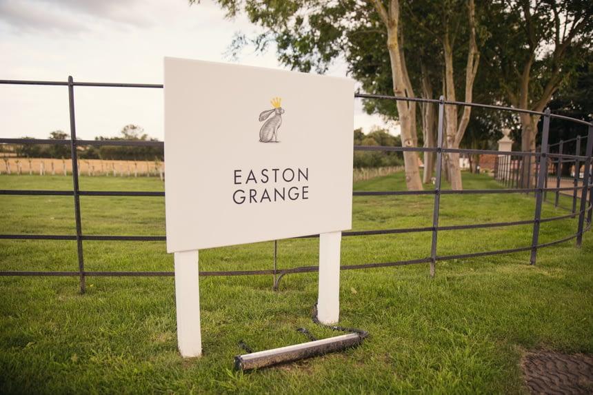 Easton Grange sign