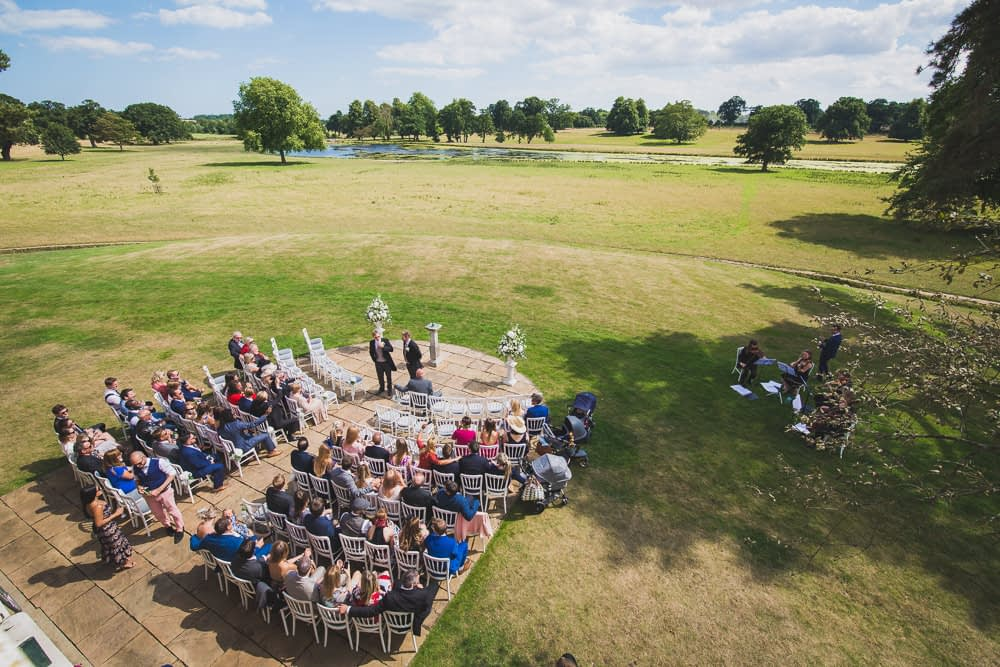 outdoor ceremony from above