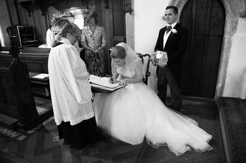 signing of register