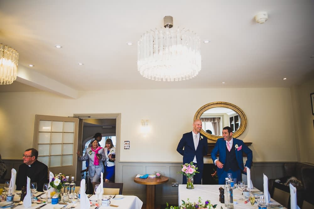 groom and best man in function room