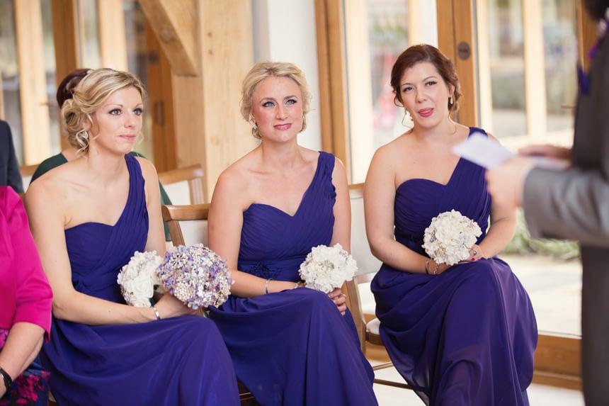 bridesmaids in ceremony room