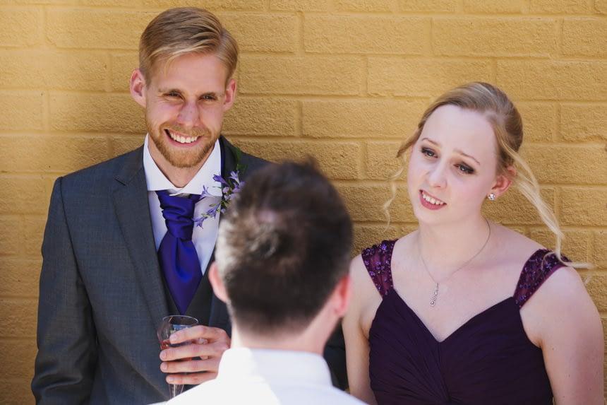 bestman and bridesmaid