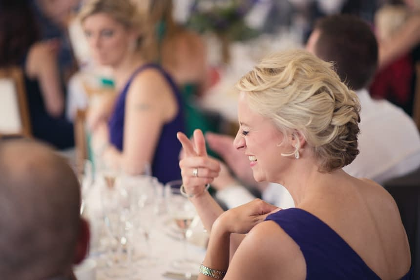 joking bridesmaid