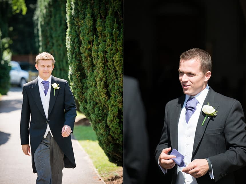 groom and groomsman at church