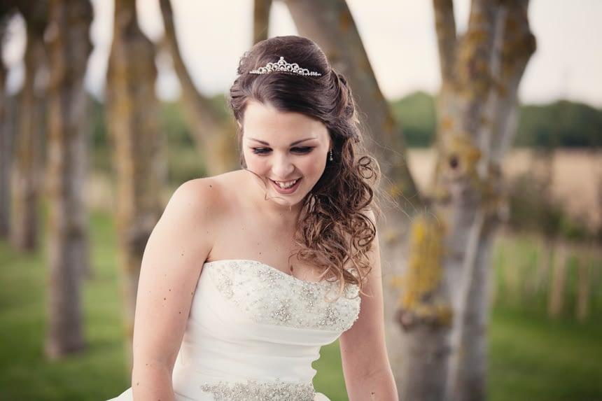 bride close up outside