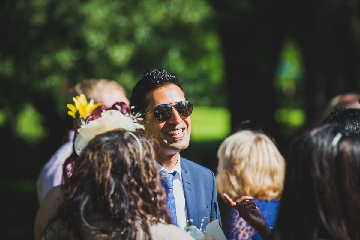 guests smiling in sun