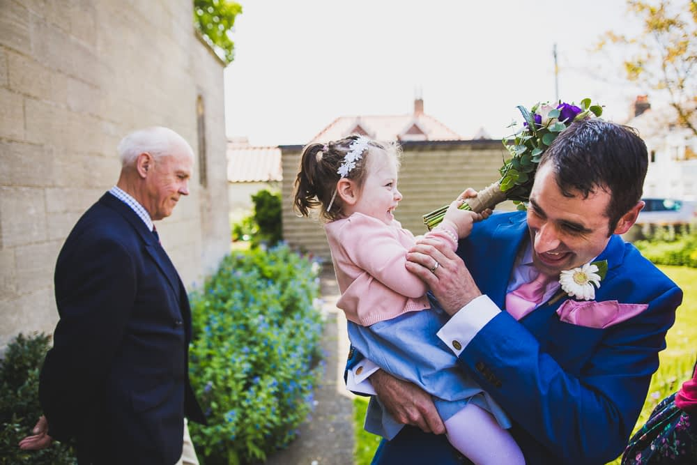 groom and daughter
