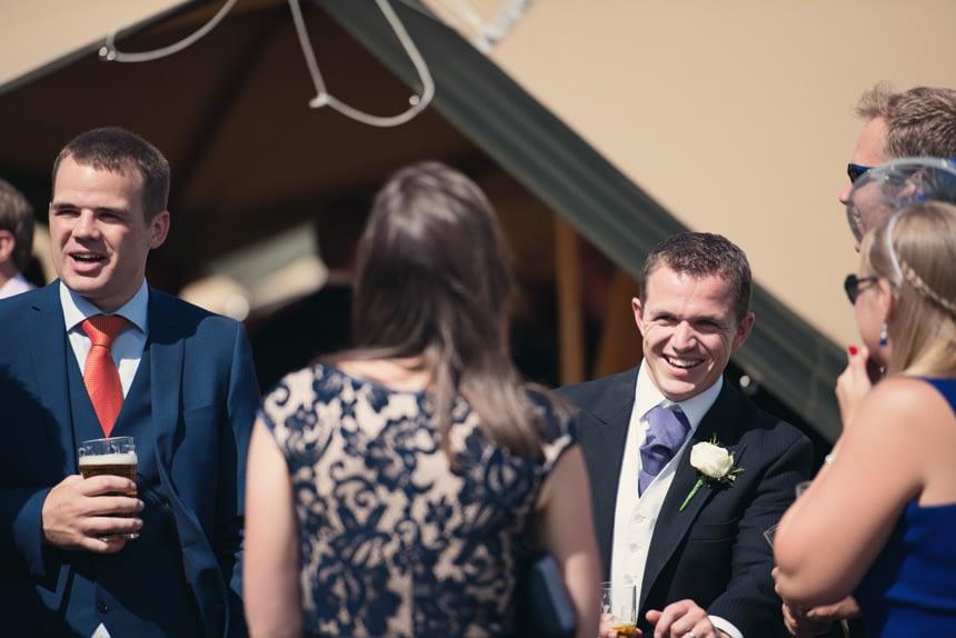 candid groom shot