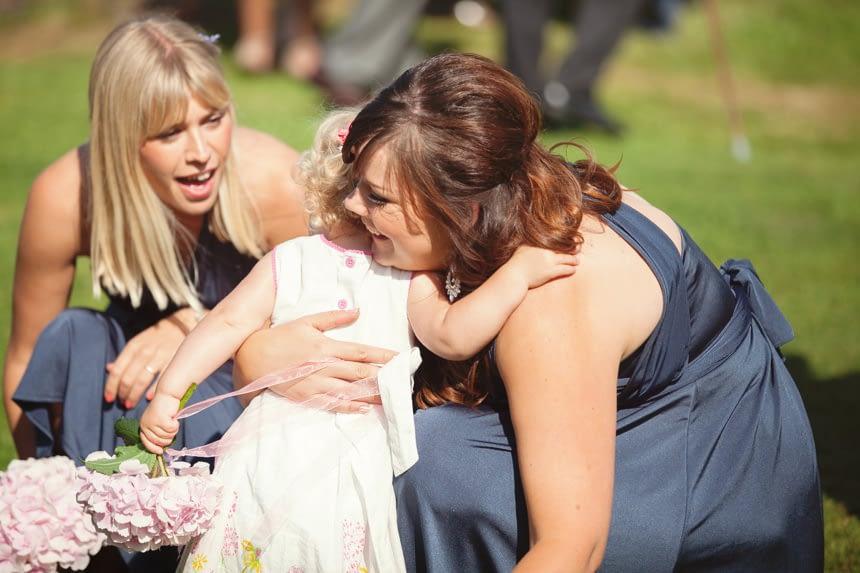 bridesmaids and toddler