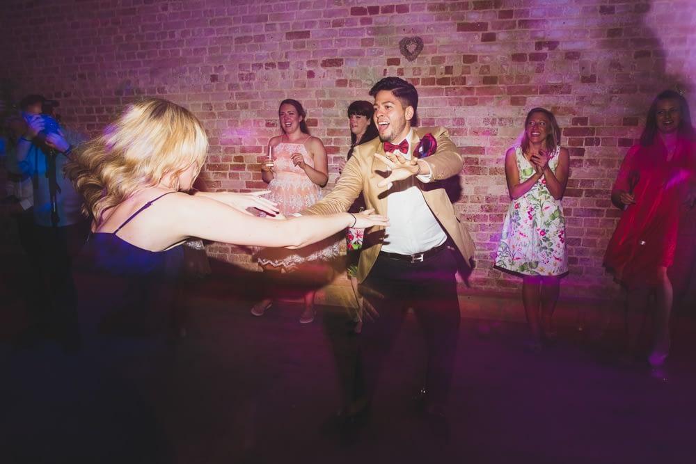 Guests swing dancing