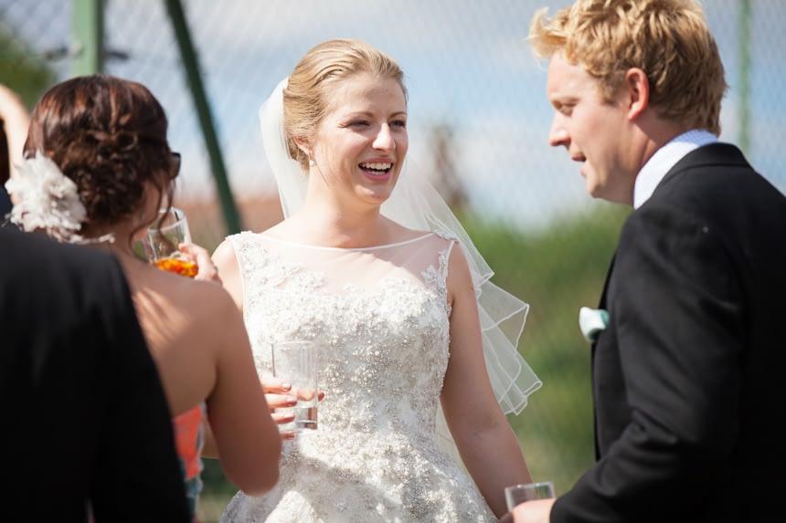candid of bride