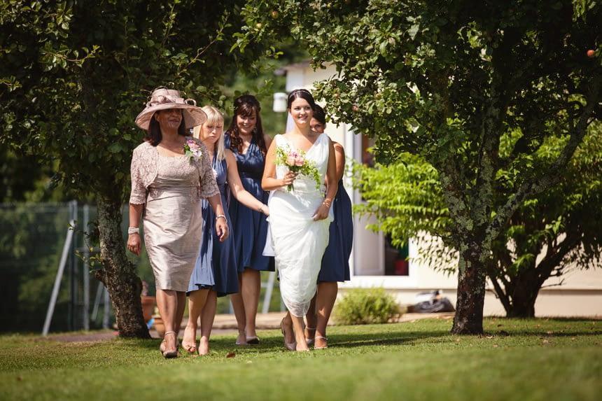 bride walking to ceremony