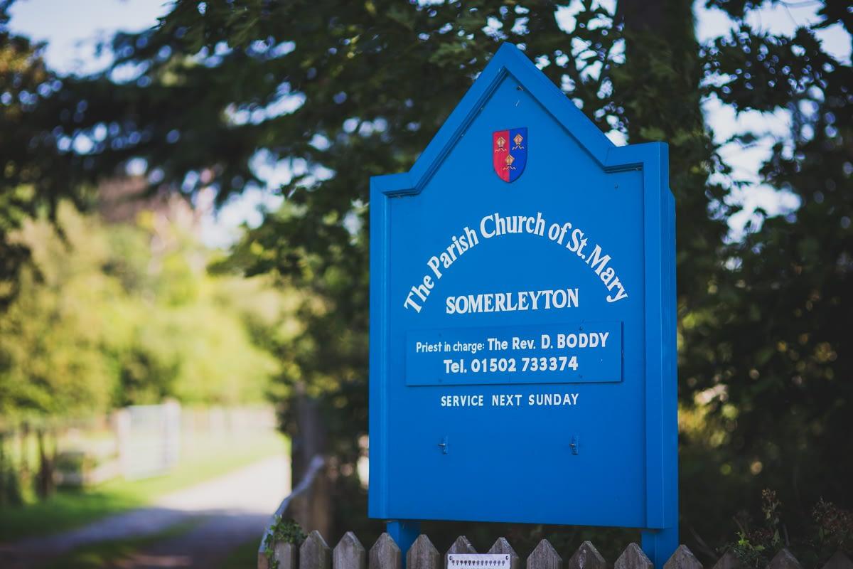 Somerleyton Church Sign