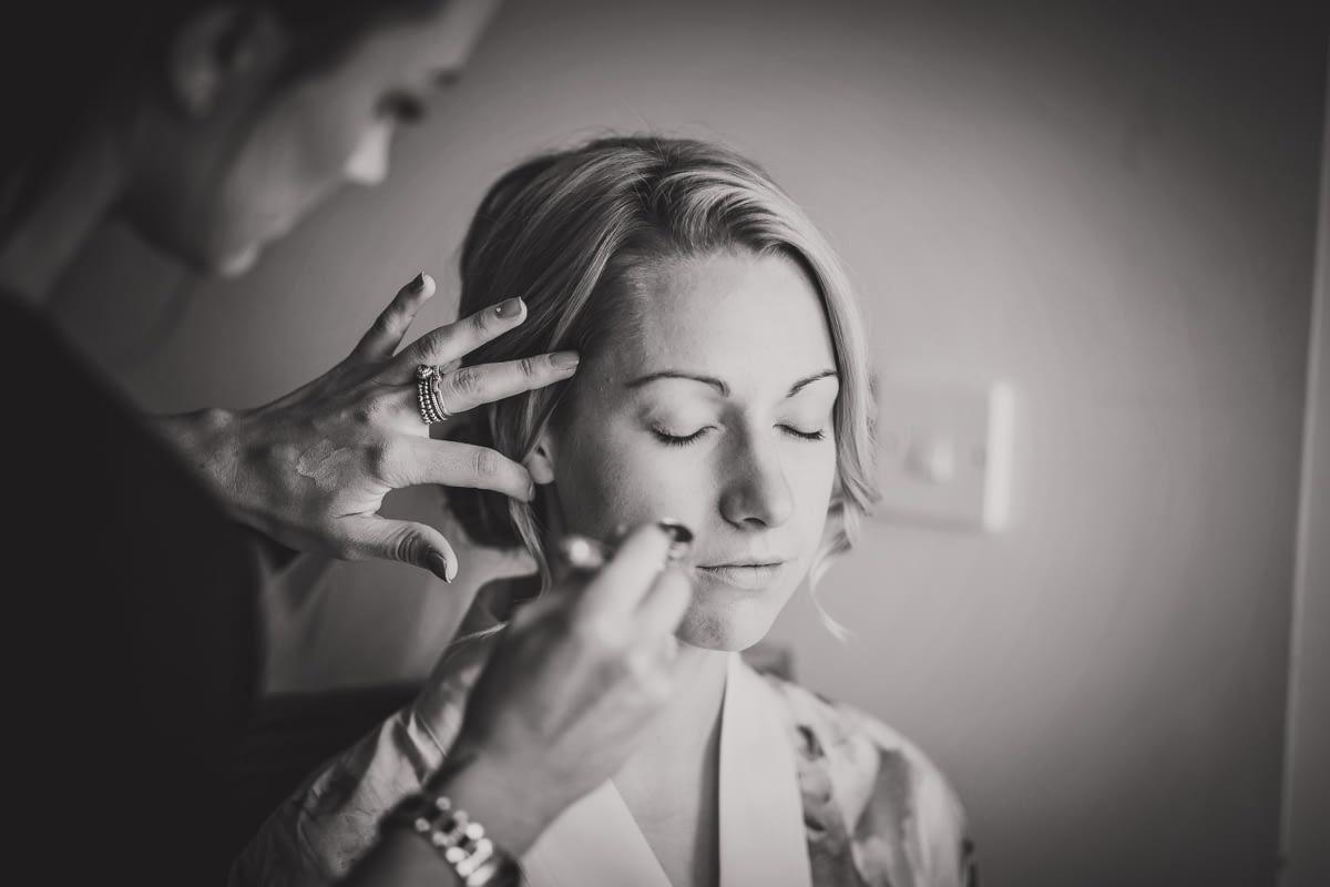 bride and air brush make up
