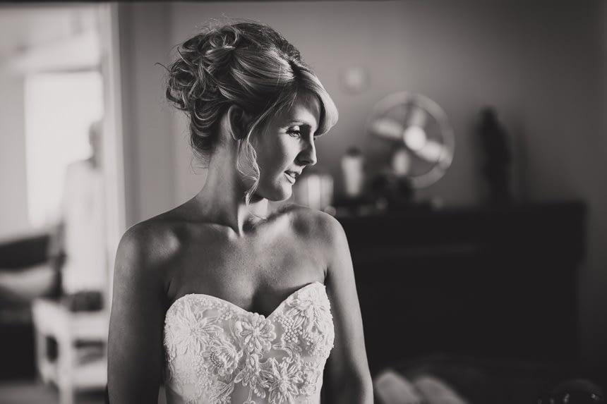 bride in black and white