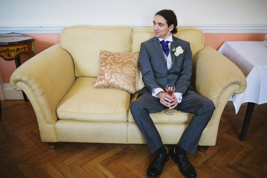 groom after ceremony