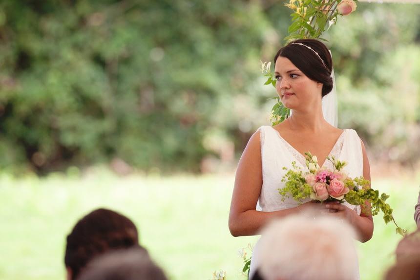 bride listening to reading