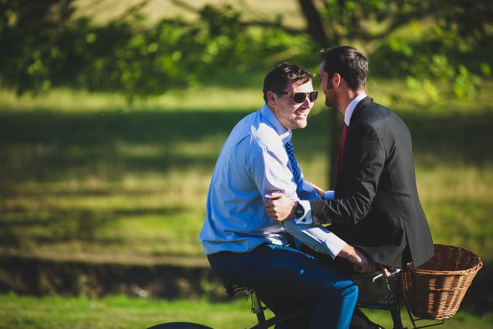 two men on a bike