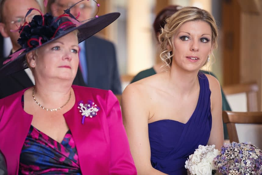 bridesmaid and mother and bride