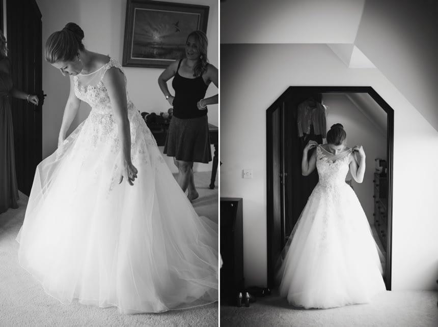 black and white portraits of bride