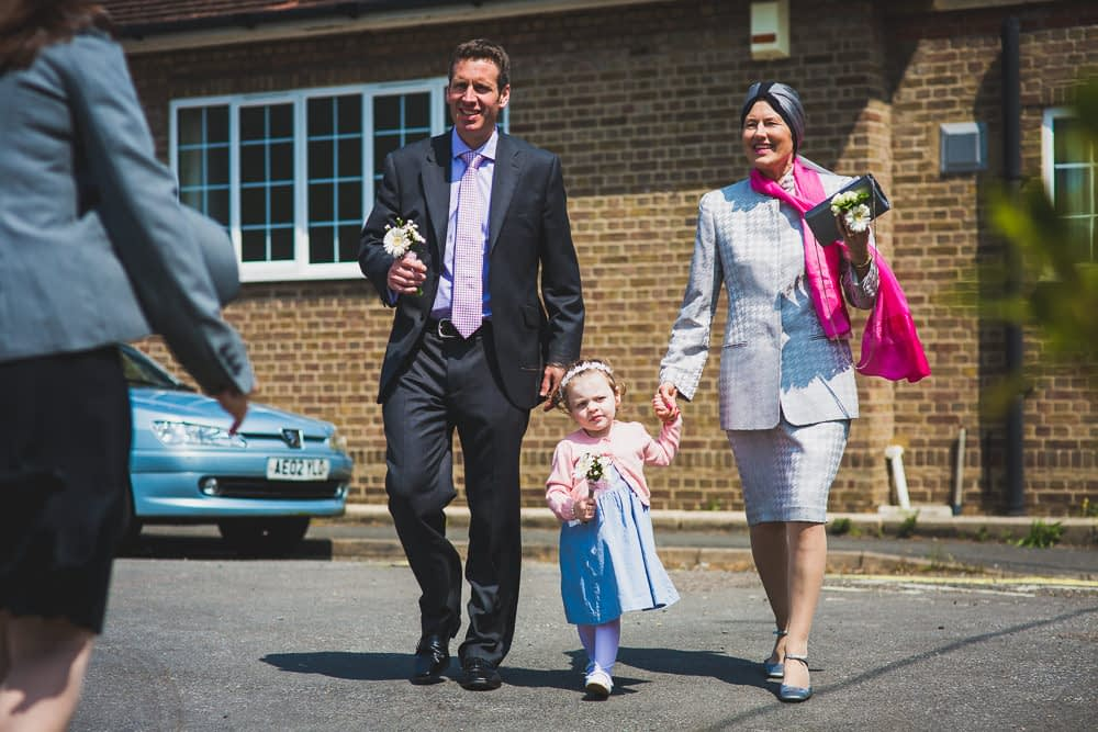 mother of bride arriving