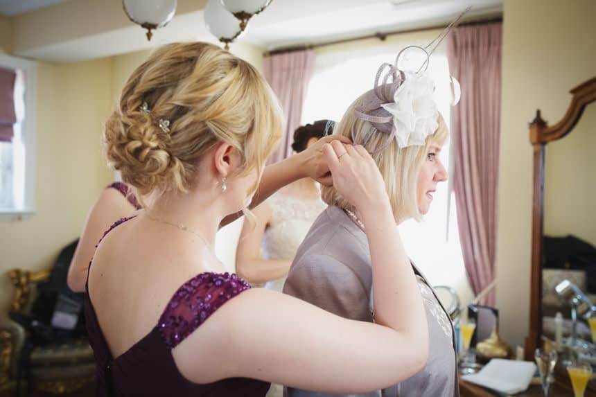 mother of the bride's hair adjustment