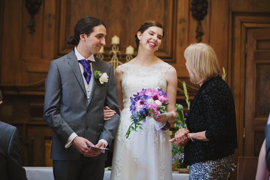receiving the marriage certificate