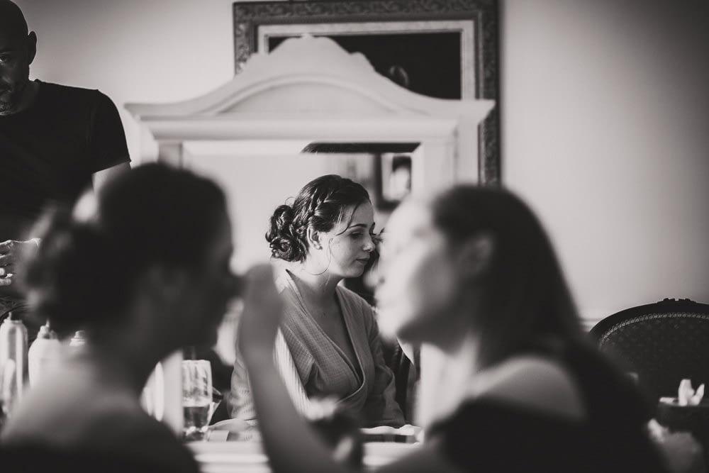 bridesmaid in make up