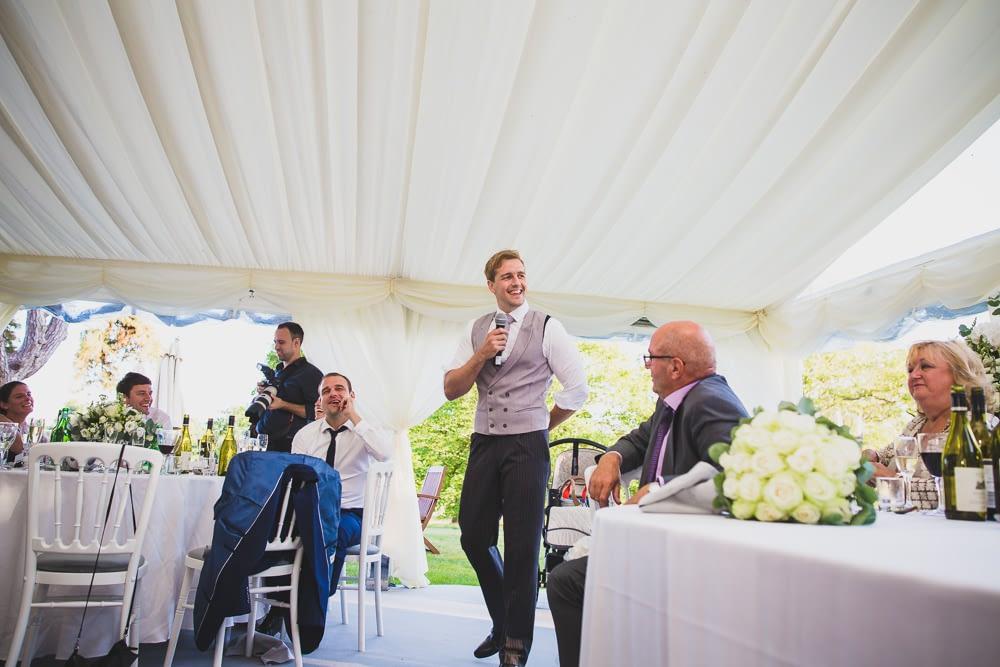 groom speaking